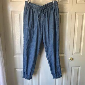 GAP 💯%Cotton Lightweight 'Chambray' Pants